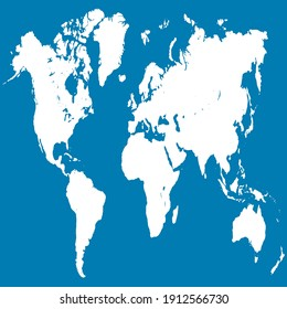 World map color vector modern. Silhouette map.