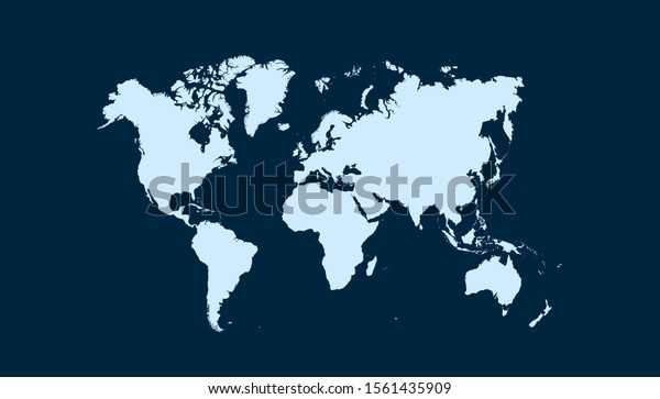 World map color vector modern