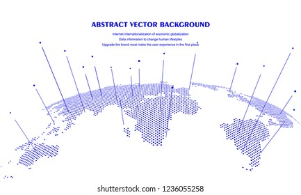 World map concept, artificial intelligence and internet big data, virtual technology