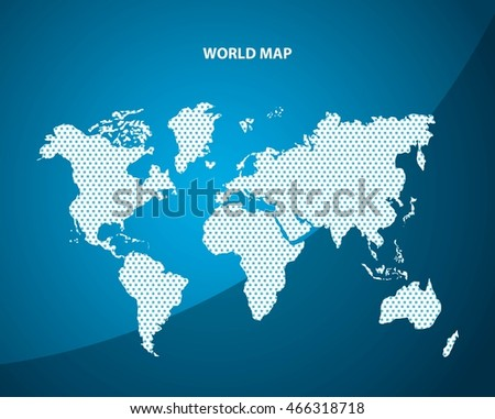 World map concept represented by pointed stock vector royalty free world and map concept represented by pointed earth icon blue illustration gumiabroncs Gallery