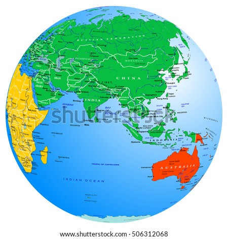 World Map Continents Countries Globe Planet Stock Vector Royalty