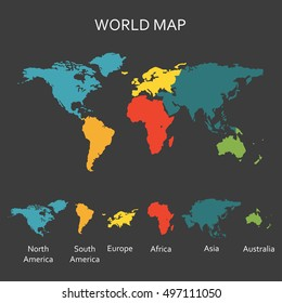 Continent Map Images Stock Photos Vectors Shutterstock