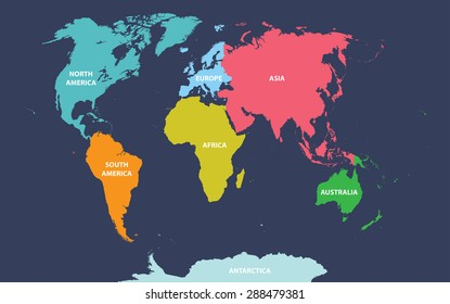 World map vector continents stock vectors images vector art world map with continents names gumiabroncs Image collections
