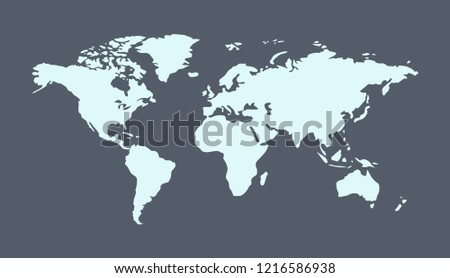 World Map Countries Continents.World Map Countries Continents Rivers Seas Stock Vector Royalty