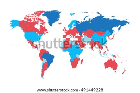 World map countries flat design vector stock vector royalty free world map with countries flat design vector gumiabroncs Gallery