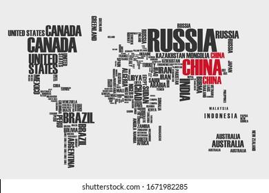 Los países del mapa mundial envían infografías sobre la epidemia de coronavirus desde China