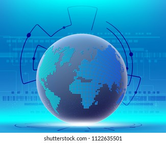 World map cyber wireless internet network connection business zone online.Vector illustration EPS10