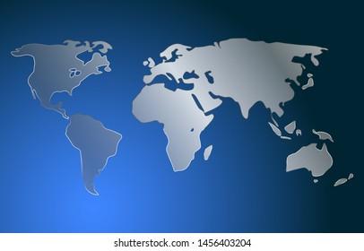 World map dark background decor