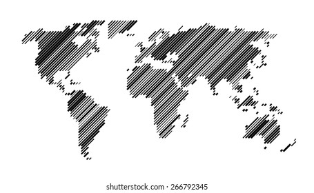 Vector world map lines vectores en stock 541670674 shutterstock world map design diagonal random width lines gumiabroncs Gallery