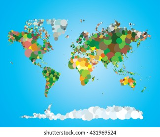 World map vector relief images stock photos vectors shutterstock world map design template vector illustration gumiabroncs Images