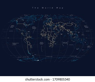 The World Map with detail
