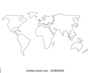 North And South America Map Outline Stock Vectors, Images ...