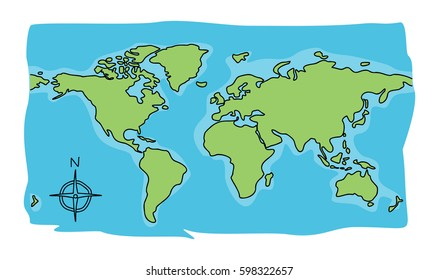 world map cartoon images stock photos vectors shutterstock https www shutterstock com image vector world map doodle 598322657