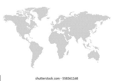 World Map Dot Pattern