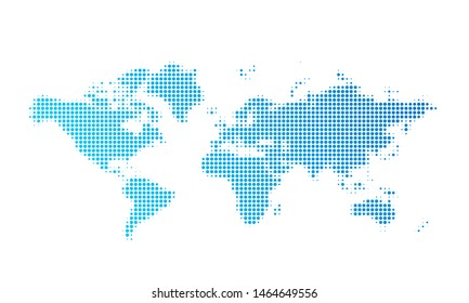 World map dot vector background, Abstract earth world map, digital simple dotted graphic