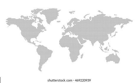 World map dotes