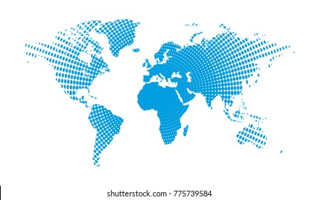 World map dots. All elements are separated Abstract linear polygonal white background. Vector illustration EPS 10 .