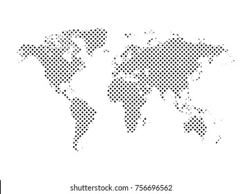 World map dots.All elements are separated Abstract linear polygonal white background. Vector illustration EPS 10 .