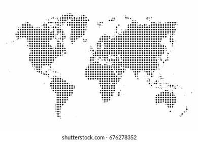 World map dot abstract world map vector de stock680971057 shutterstock world map world map dots pop art style background vector gumiabroncs Choice Image