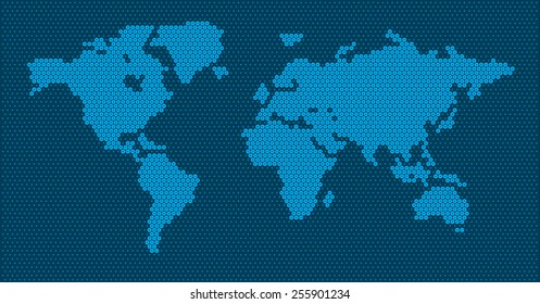 World Map With Scale Images Stock Photos Vectors Shutterstock