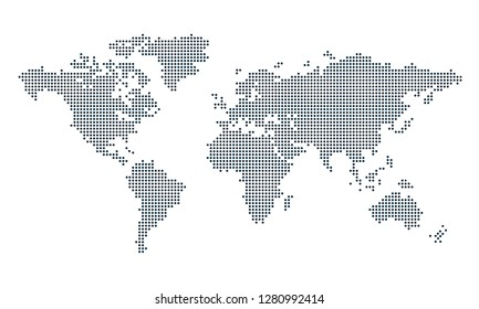World map dots vector