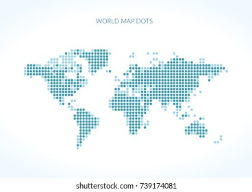 World Map dots. Vector illustration
