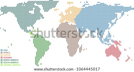 World Map Dots Vector Illustration Background Stock Vector (Royalty ...