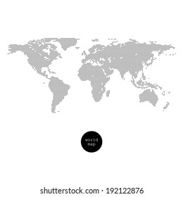 World map. Dotted world map isolated on white