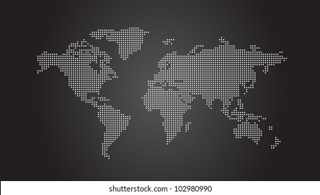 World Map Dotted - Vector EPS10