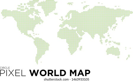 World map drawn by circles