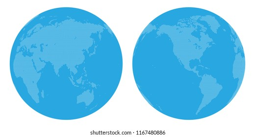 World map drawn by dots. Vector illustration.