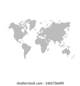 world map. Earth, map template for web site, inphographics.  worldmap icon.