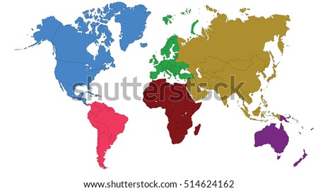 World map europe asia north america stock vector royalty free world map europe asia north america south america africa australia gumiabroncs Gallery