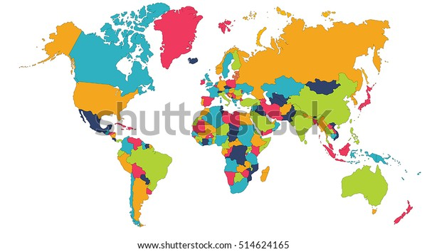 Global Map Of Asia.World Map Europe Asia North America Stock Vector Royalty Free