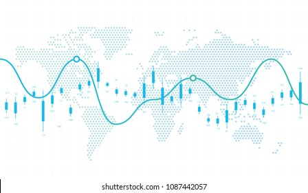 World Map Finance Infographics. Vector Illustration