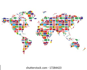 World map flags images stock photos vectors shutterstock world map with flags gumiabroncs Images