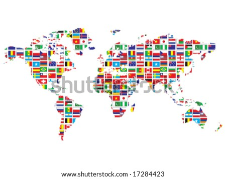 World map flags stock vector royalty free 17284423 shutterstock world map with flags gumiabroncs Choice Image