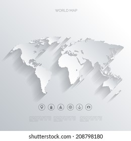 world map in a flat styleearthgloberoute planningmap of