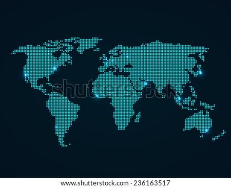 World map folded squares vector illustration stock vector royalty world map with folded squares vector illustration gumiabroncs Image collections