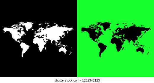 world map free hand style vector free from map illustration