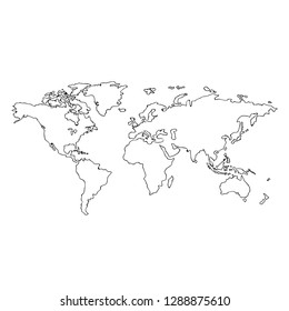 world map free from map style on background vector illustration