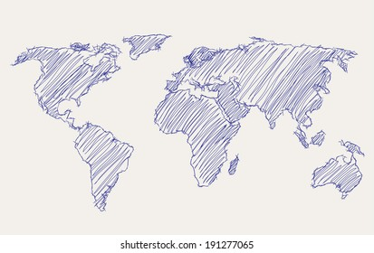 World Map Drawing Images, Stock Photos & Vectors | Shutterstock on map legend, map that you can draw on, map isometric world, map science projects, map cartoon, map of and or, map quilt, map card, map activity for students, map key, map collage, map artist, map illustration, map watercolor, map of home, map symbols, map scale, map icon location, map photography, map of an imaginary island,