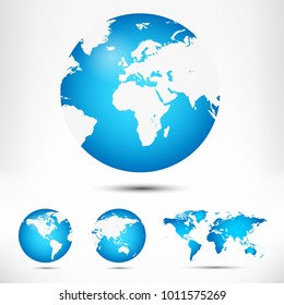 Globe vector images stock photos vectors shutterstock world map and globe detail vector illustration gumiabroncs Images