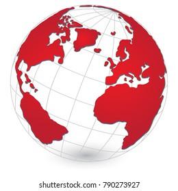 World Map and Globe Detail, Vector Illustration EPS 10.