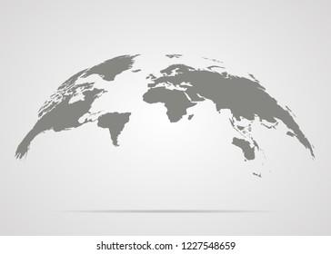 World map globe earth