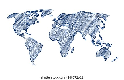 World map drawing images stock photos vectors shutterstock world map globe hand drawn vector illustration gumiabroncs Image collections