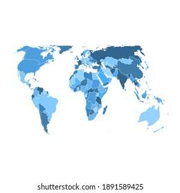 World Map Globe On White Background America Asia Australia Europe Africa Vector Illustration