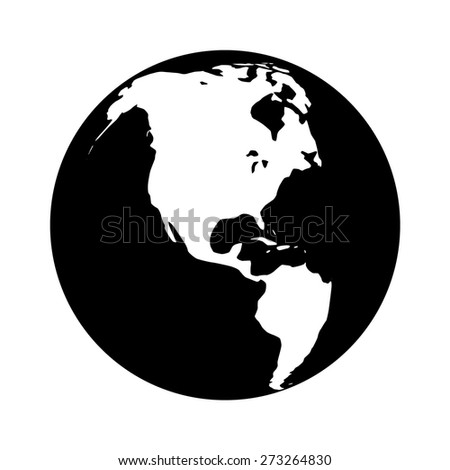 World map globe planet earth world stock vector royalty free world map globe or planet earth world map flat vector icon for apps and websites gumiabroncs Gallery