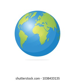World Map and Globe Vector Illustration