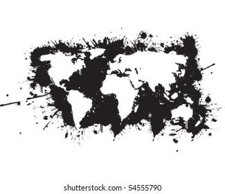 World map Graffiti reverse